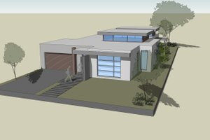 Modern Exterior - Front Elevation Plan #496-22