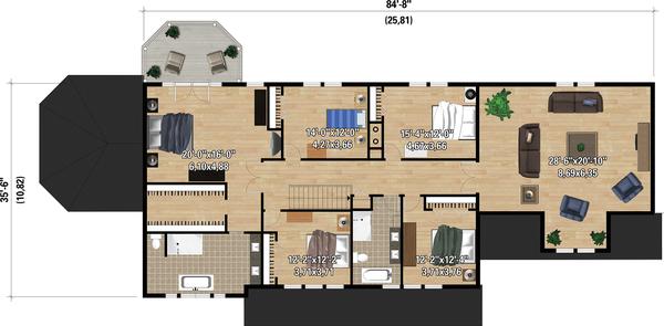 Dream House Plan - Country Floor Plan - Upper Floor Plan #25-4883