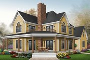 Farmhouse Style House Plan - 3 Beds 2.5 Baths 2687 Sq/Ft Plan #23-519 Exterior - Front Elevation