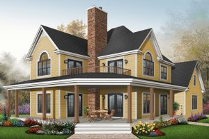 Farmhouse Exterior - Front Elevation Plan #23-519