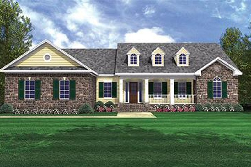 Architectural House Design - Country Exterior - Front Elevation Plan #21-226