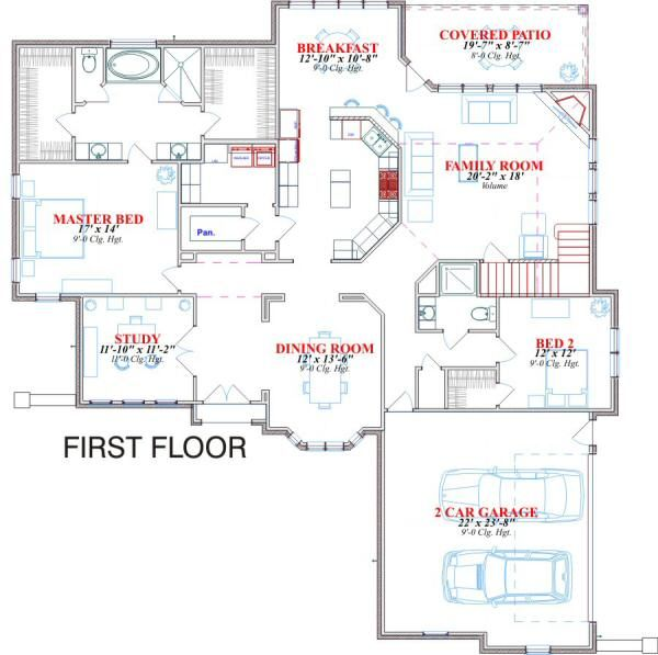 Traditional Floor Plan - Main Floor Plan Plan #63-132