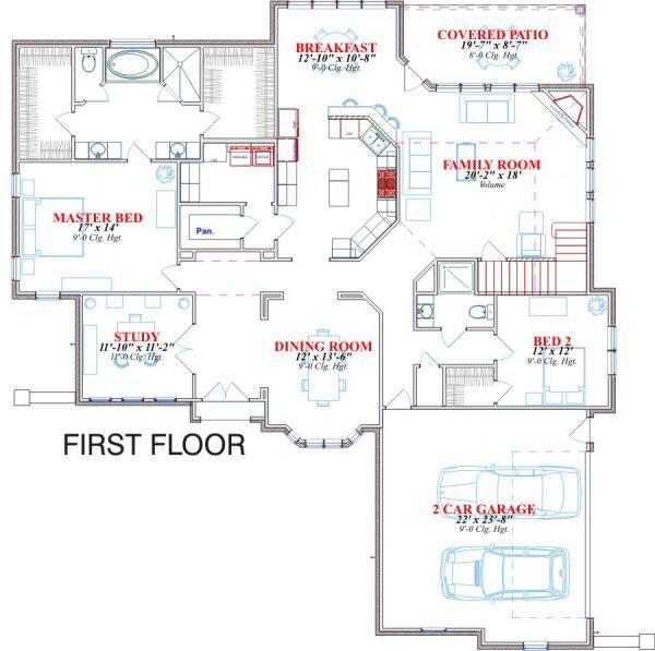 Home Plan - Traditional Floor Plan - Main Floor Plan #63-132