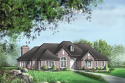 European Style House Plan - 3 Beds 2 Baths 2444 Sq/Ft Plan #25-4620 Exterior - Front Elevation