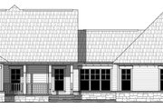 Country Style House Plan - 3 Beds 2.5 Baths 1902 Sq/Ft Plan #21-458 Exterior - Rear Elevation