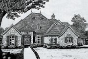 European Style House Plan - 4 Beds 3.5 Baths 3156 Sq/Ft Plan #310-325 Exterior - Front Elevation