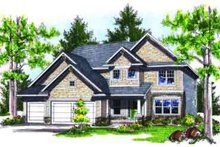 Dream House Plan - Traditional Exterior - Front Elevation Plan #70-735