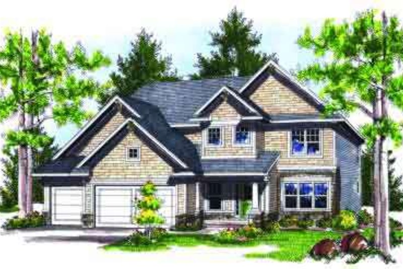 Traditional Exterior - Front Elevation Plan #70-735 - Houseplans.com