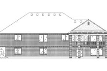 Home Plan - Traditional Exterior - Rear Elevation Plan #5-263