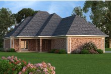 Home Plan - Rear Elevation - 1400 square foot European home