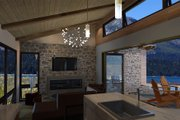 Contemporary Style House Plan - 1 Beds 1 Baths 480 Sq/Ft Plan #484-6 Interior - Family Room