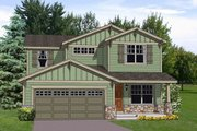 Bungalow Style House Plan - 4 Beds 2.5 Baths 2242 Sq/Ft Plan #116-254 Exterior - Front Elevation
