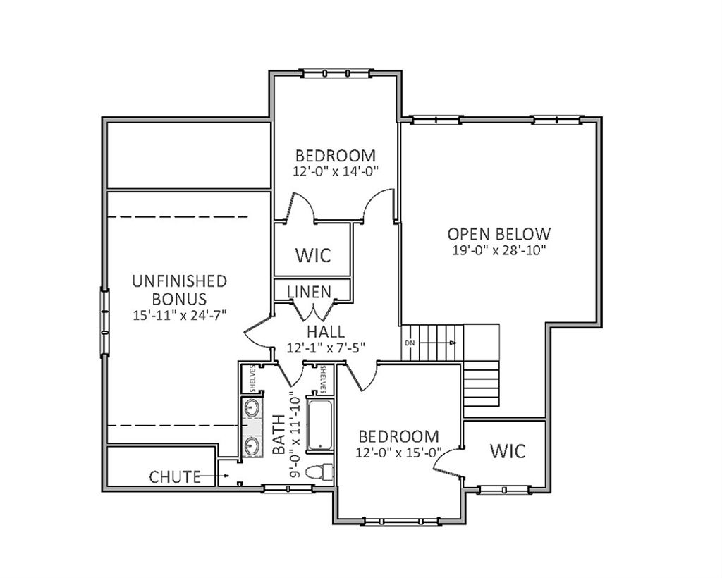 Traditional Style House Plan 4 Beds 35 Baths 2754 SqFt Plan 898