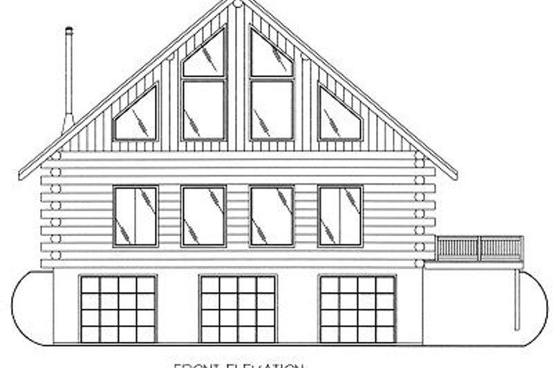 Log Exterior - Other Elevation Plan #117-501 - Houseplans.com