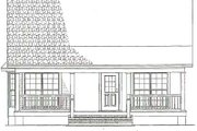 Cottage Style House Plan - 2 Beds 1 Baths 975 Sq/Ft Plan #17-2139 Exterior - Other Elevation