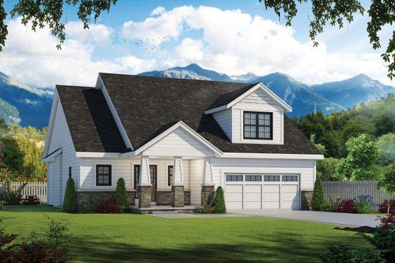 Home Plan - Craftsman Exterior - Front Elevation Plan #20-2261