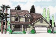 Traditional Style House Plan - 3 Beds 1.5 Baths 1505 Sq/Ft Plan #116-216 Exterior - Front Elevation