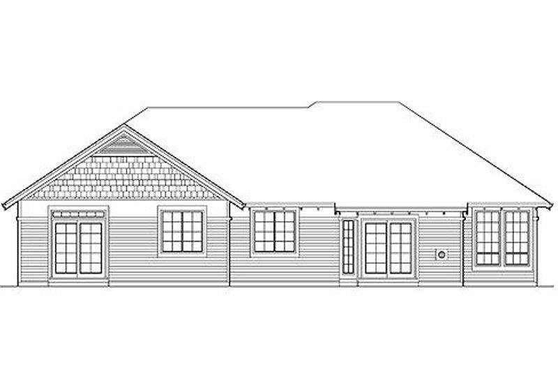 Craftsman Exterior - Rear Elevation Plan #48-408 - Houseplans.com