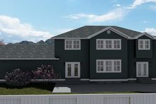 House Plan Design - Craftsman Exterior - Rear Elevation Plan #1060-55