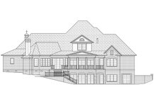 European Exterior - Rear Elevation Plan #1054-30