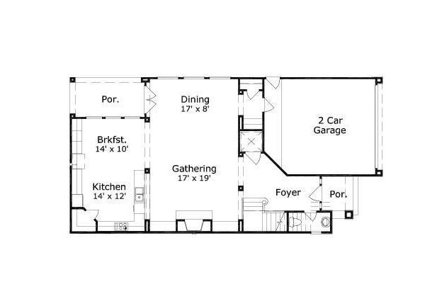 European Floor Plan - Main Floor Plan #411-649