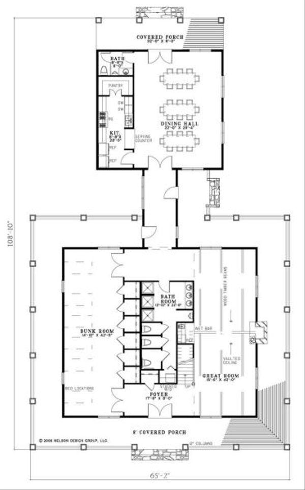 Country Floor Plan - Main Floor Plan Plan #17-652