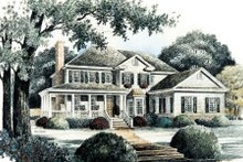 Country Exterior - Front Elevation Plan #429-20