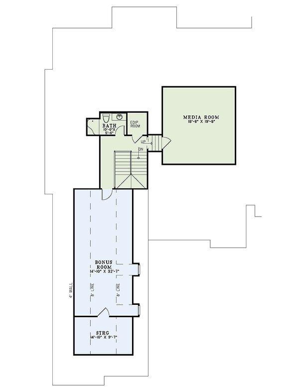 European Floor Plan - Upper Floor Plan Plan #17-2476