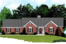Home Plan Design - Traditional Exterior - Front Elevation Plan #56-161