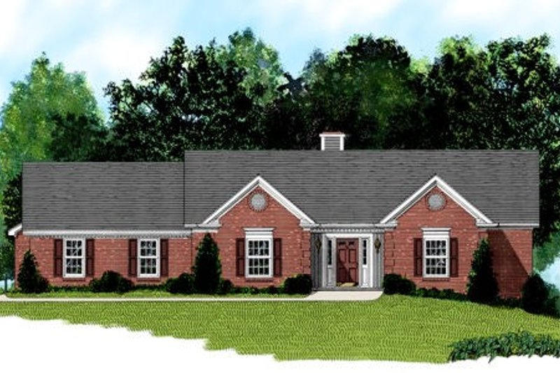 Traditional Exterior - Front Elevation Plan #56-161 - Houseplans.com