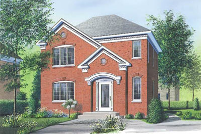 European Exterior - Front Elevation Plan #23-2112