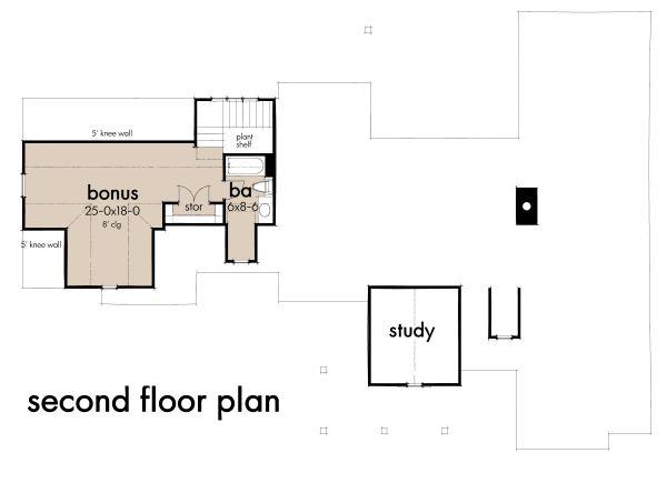 Cottage Floor Plan - Upper Floor Plan #120-269