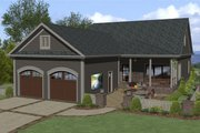 Craftsman Style House Plan - 3 Beds 2 Baths 1779 Sq/Ft Plan #56-708 Exterior - Rear Elevation