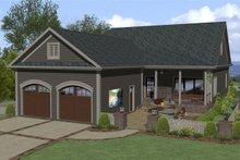 Craftsman Exterior - Rear Elevation Plan #56-708