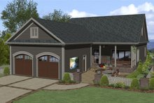 Dream House Plan - Craftsman Exterior - Rear Elevation Plan #56-708