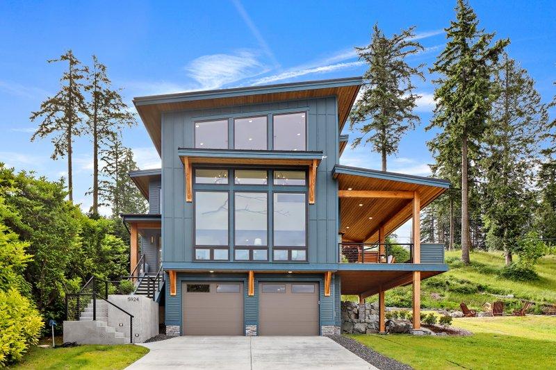 Architectural House Design - Contemporary Photo Plan #1070-7