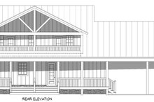 House Blueprint - Country Exterior - Rear Elevation Plan #932-360