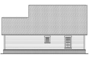 Country Style House Plan - 2 Beds 2 Baths 900 Sq/Ft Plan #430-3 Exterior - Rear Elevation