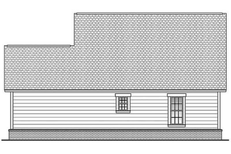 Country Exterior - Rear Elevation Plan #430-3 - Houseplans.com