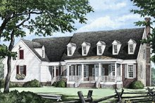 Dream House Plan - Country Exterior - Front Elevation Plan #137-175