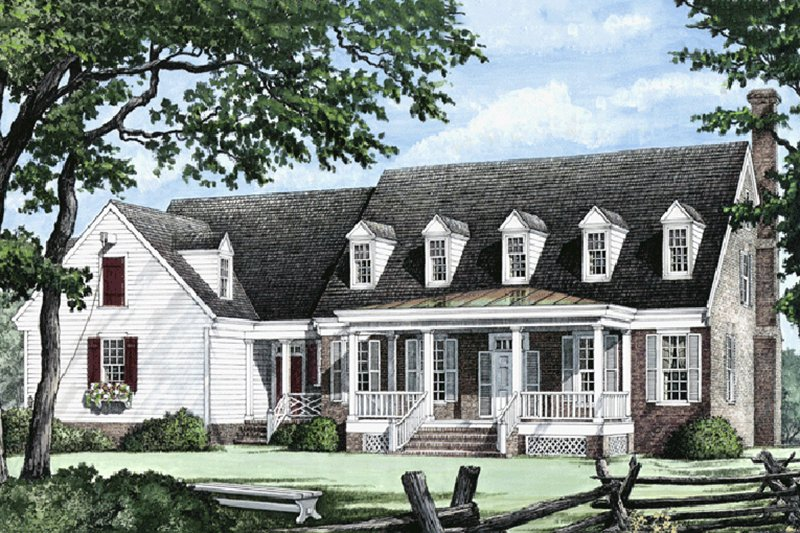 Country Exterior - Front Elevation Plan #137-175 - Houseplans.com