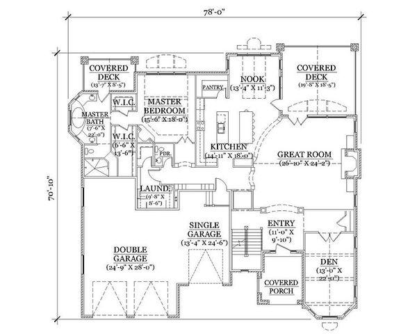 European Floor Plan - Main Floor Plan Plan #5-418