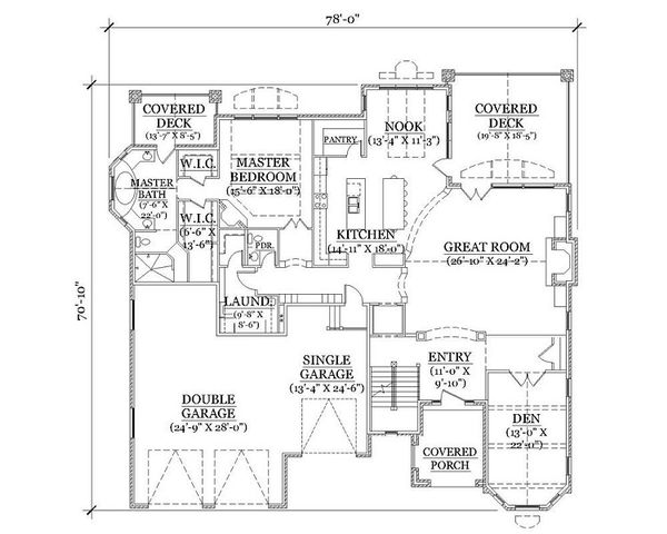 House Plan Design - European Floor Plan - Main Floor Plan #5-418