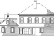 Classical Style House Plan - 5 Beds 4 Baths 4465 Sq/Ft Plan #137-157 Exterior - Rear Elevation