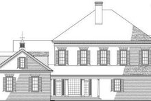 Classical Exterior - Rear Elevation Plan #137-157