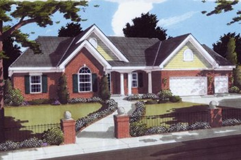 Traditional Exterior - Front Elevation Plan #46-105
