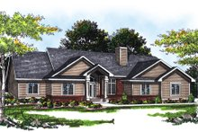 Dream House Plan - Traditional Exterior - Front Elevation Plan #70-223