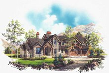 Colonial Exterior - Front Elevation Plan #5-446
