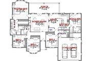 Traditional Style House Plan - 4 Beds 3 Baths 2047 Sq/Ft Plan #63-360 Floor Plan - Main Floor Plan