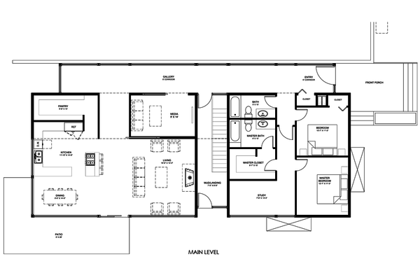 Modern Floor Plan - Main Floor Plan Plan #498-5